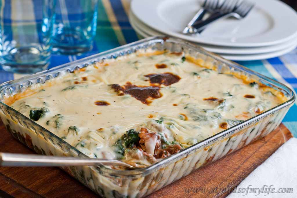 Spinach & Mince pasticcio - low Fodmap and gluten-free