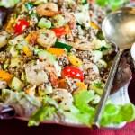 Prawn Quinoa Salad - low Fodmap and gluten-free