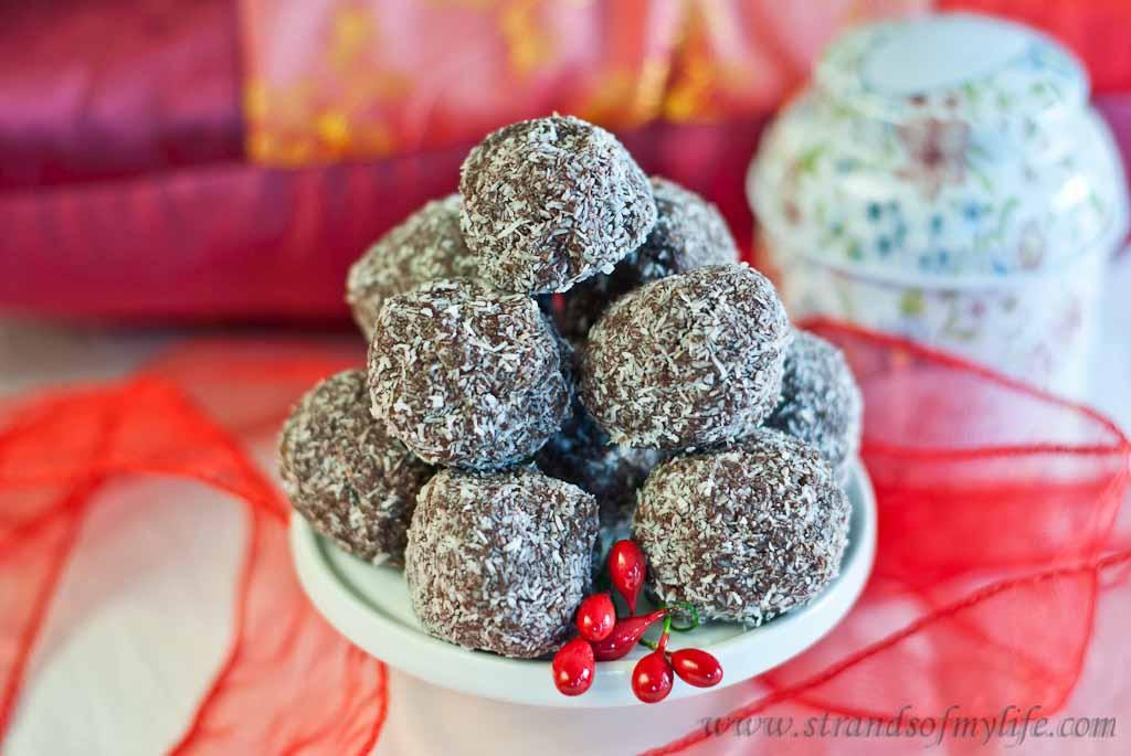 Chocolate Cranberry Truffles - low Fodmap