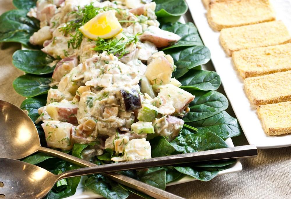Tofu & Potato Salad – Vegetarian Dinner