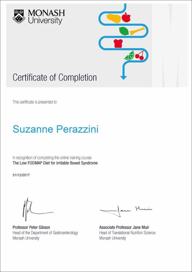 Monash University Certificate