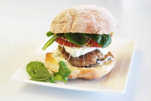 Low Fodmap Lamb burger