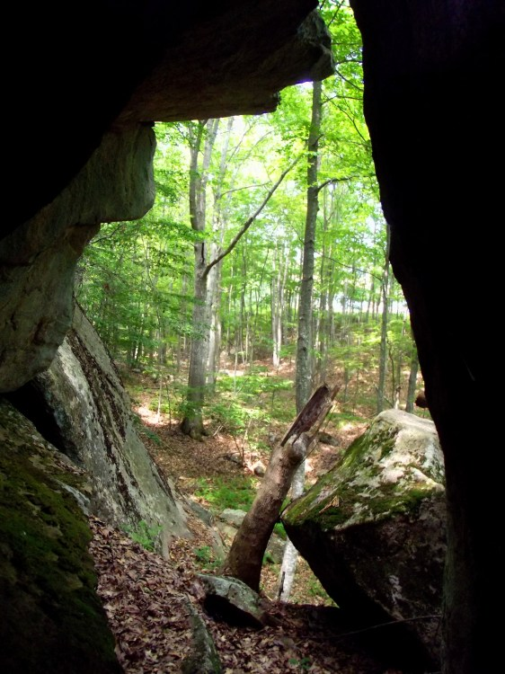 Looking out cave 3 just before the rise