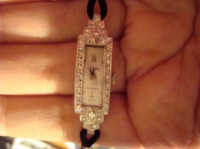 Platinum & diamond deco Pedre watch.