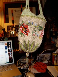 The full beaded reticule, more or less
