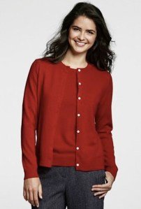 2 - Red cashmere cardigan