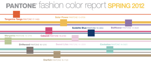 Spring 2012 Fashion Color Trends - Pantone Fashion Color Report Spring 2012