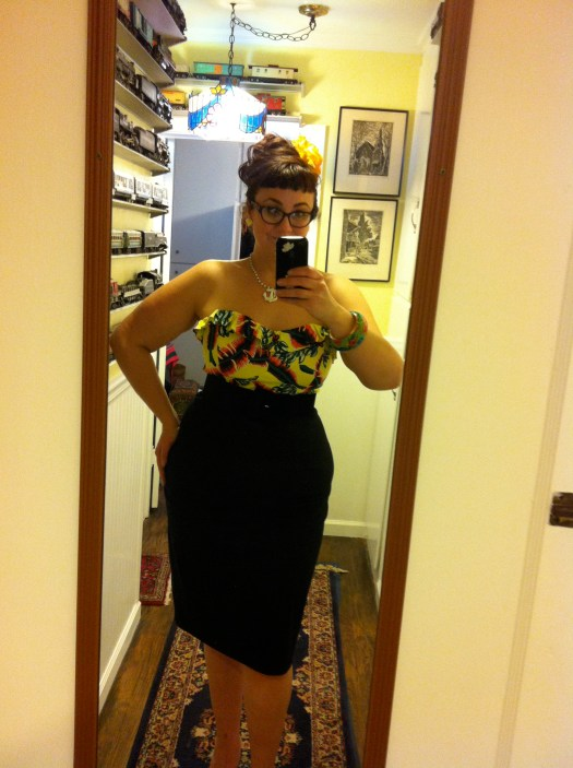 Dixiefried bustier and Mode Merr Perfect Pencil Skirt