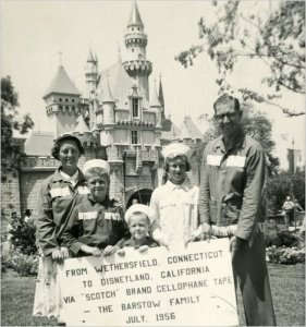 The Barstow family in Disneyland, 1956
