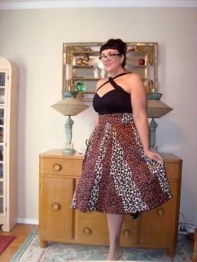 Deadly Dames Voodoo Vixen top and Kinky Box skirt