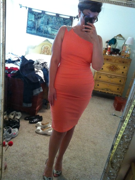 Vivien Dress in Peach