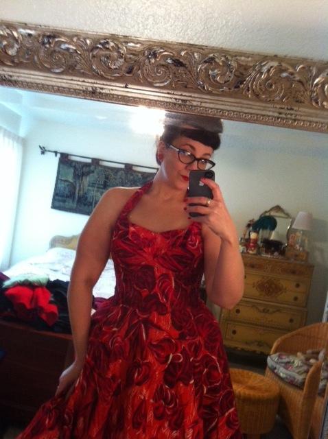 Vintage Kamehameha halter dress