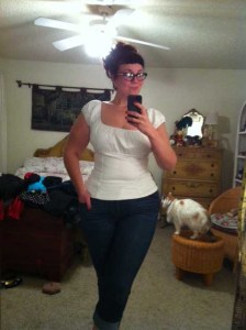 White peasant top by Pinup Couture