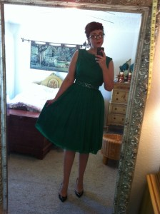 Vintage chiffon cocktail dress
