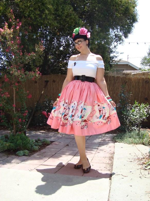 Mary Blair Parasol print skirt