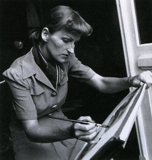 Mary Blair at work
