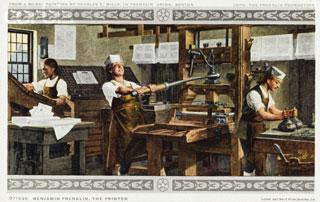 Benjamin Franklin, the Printer
