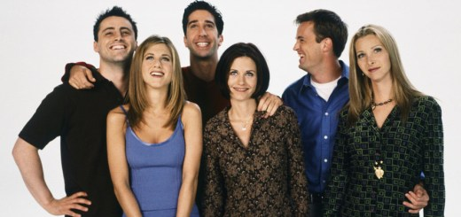 FRIENDS -- Season 4 -- Pictured: (back l-r) Matt LeBlanc as Joey Tribbiani, David Schwimmer as Ross Geller, Matthew Perry as Chandler Bing, (front l-r) Jennifer Aniston as Rachel Green, Courteney Cox as Monica Geller, Lisa Kudrow as Phoebe Buffay -- Photo by: Gerald Weinman/NBCU Photo Bank