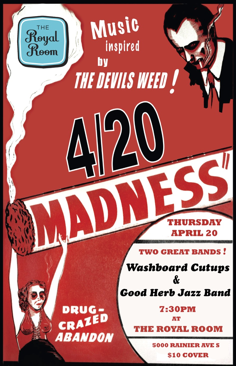 420 MADNESS An Evening Of 1920s Jazz Inspired By The Devils Weed Tickets Royal Room