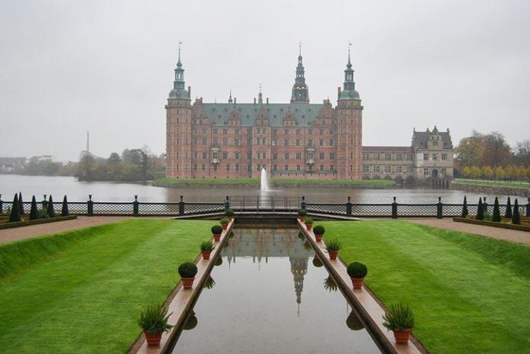 Danske palače in gradovi Frederiksborg, Fredensborg in Kronborg