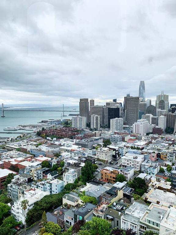 Razgled na San Francisco iz Coit Tower