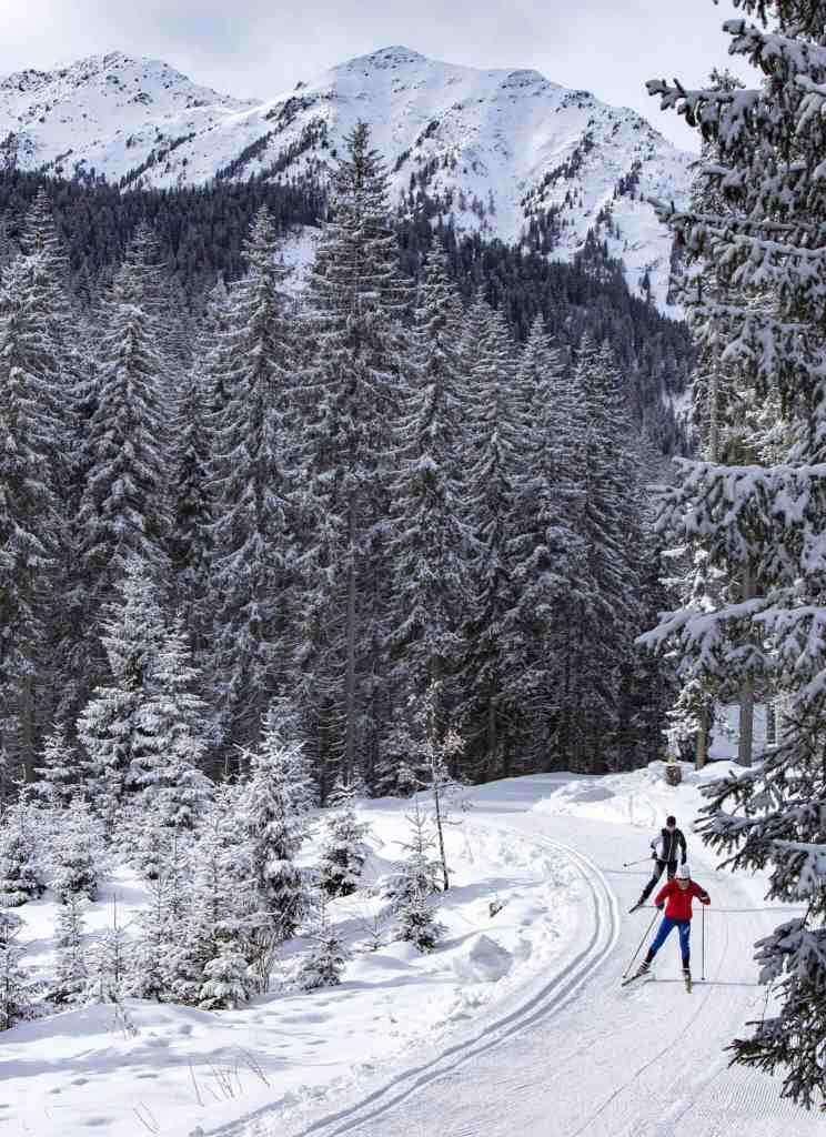 Obertilliach Winter Osttirol Strasserwirt Langlaufen