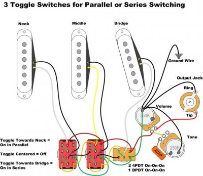 strat wiring how to wire 3 pickupsparallelseries