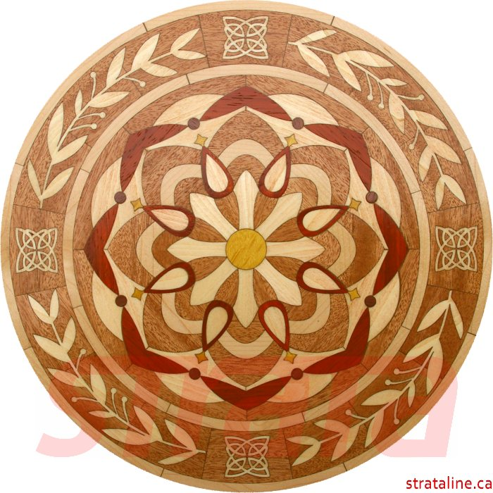 laser medallion detail product flooring hardwood wood cut with inlays oak buy