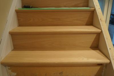 Stair, Stairs, Treads, Stair Treads, Tread, Tread Installation, Oak Tread