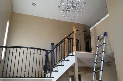 Stair-Stairs-Railing-Refinishing, stair refinishing aurora, stair refinishing newmarket-Install-Refinish-Cap-Aurora-Newmarket-King-Vaughan-York-Ontario