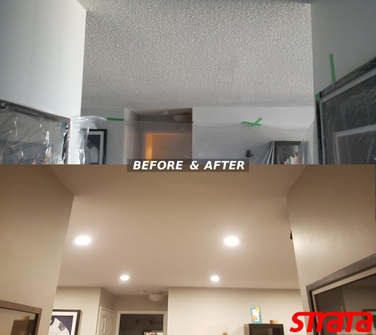 LED Potlight installation and Dustless Popcorn ceiling removal MIssissauga, Toronto. GTA, Etobicoke
