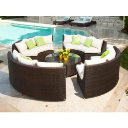 circular outdoor wicker sectional sets