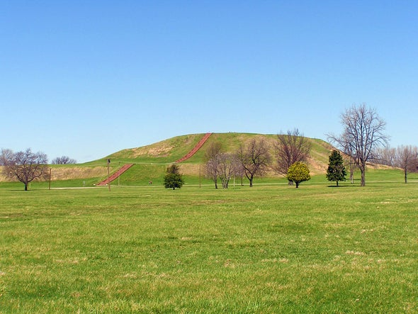 Remnants of the ancient city of Cahokia, in what's now southern Illinois.
