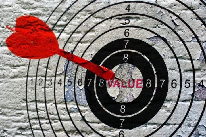 43341091 - value target grunge concept