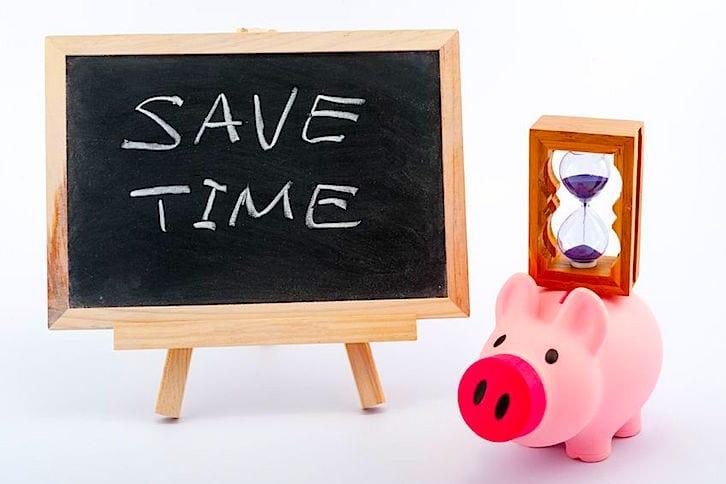 save time piggy bank