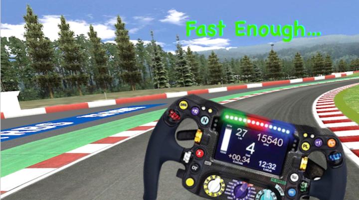 Indy Car Steering Wheel - Fast Enough