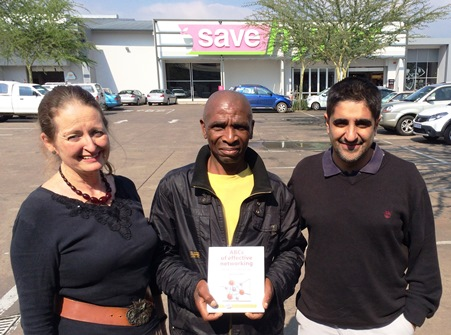 Brenda Eckstein, France Mthiyane and Rashaad Solomon, Manager Save Hyper.