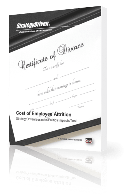 StrategyDriven Business Politics Impacts Tool | Cost of Employee Attrition