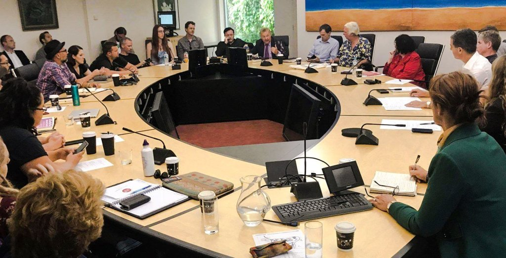 Music roundtable meeting on the central coast - stratford Music