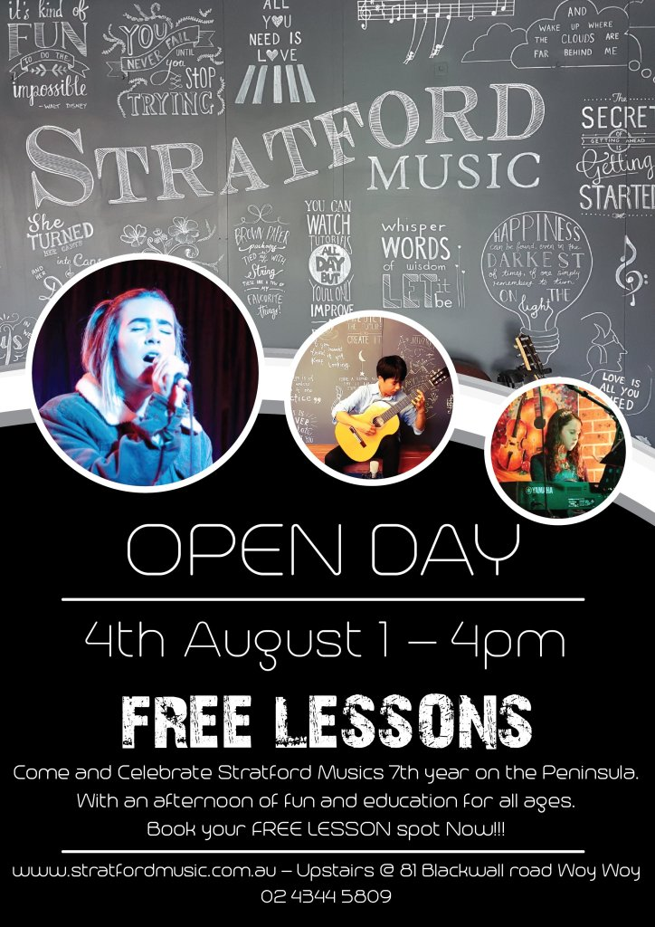 open day lessons stratford music