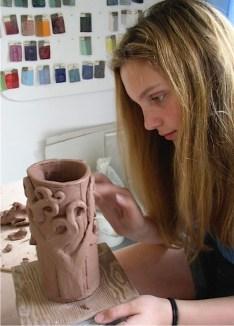 vase-after Gustav Klimt
