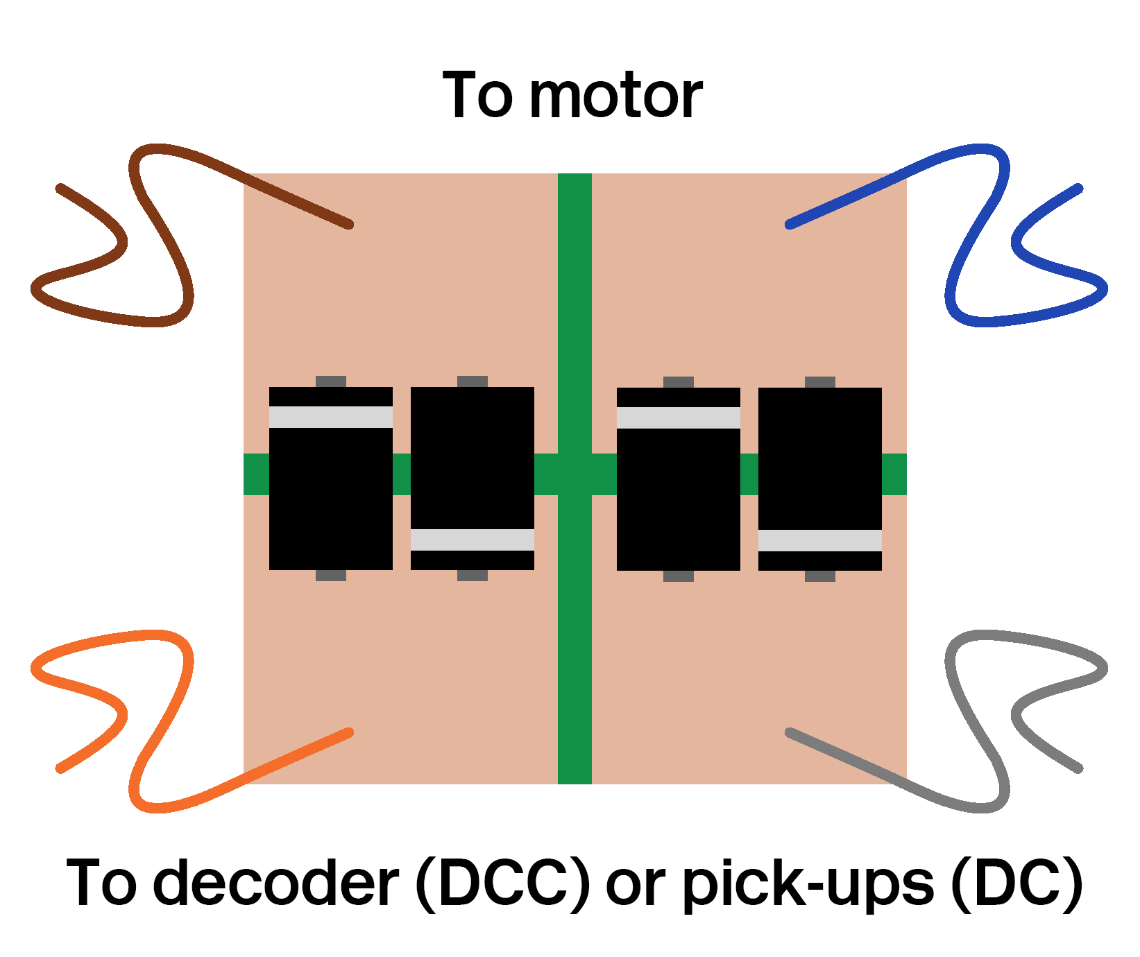 Bachmann Decoder Wiring Diagram 8 Pin Library Diode Voltage Dropper Circuit For Lima Motor Conversion