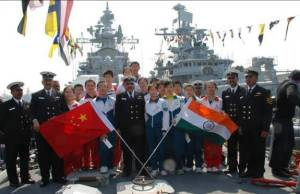 Visitors onboard Indian Naval Ship during Chinese IFR.