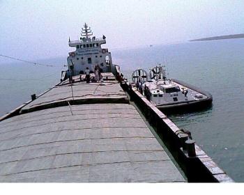 Navy, Coast Guard and other agencies interrogate a Bangladeshi vessel