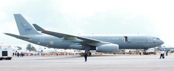 A British Royal Air Force Airbus A-330 MRTT at the Singapore Air Show in February 2012 | Photo: StratPost