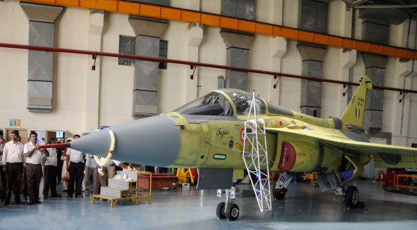 The first Tejas LCA series production aircraft after its first flight | Photo HAL