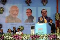 Prime Minister Narendra Modi addressing a meeting of veterans in Bhopal, Madhya Pradesh on October 14, 2016   Photo: PIB
