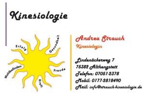 Praxis für Angewandte Kinesiologie - Andrea Strauch