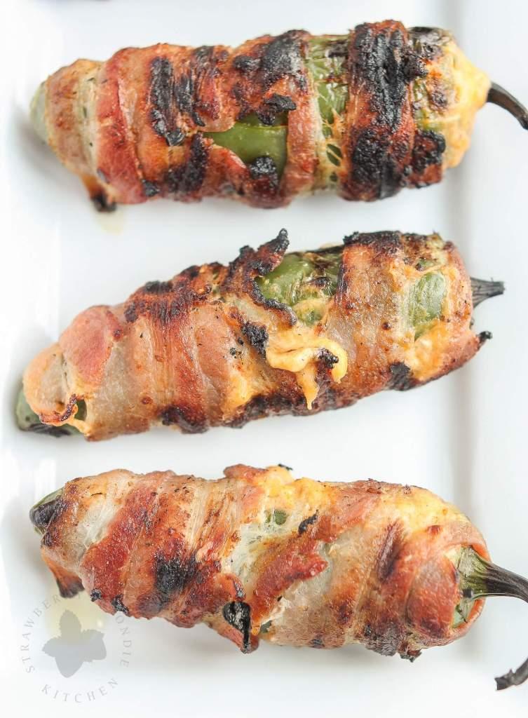 Bacon Wrapped Pimento Stuffed Jalapenos | Strawberry Blondie Kitchen