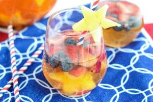 Red White and Blue Sangria| Strawberry Blondie Kitchen